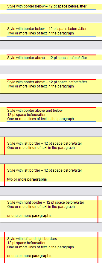 Word table shading problem - Paragraph style with border(s) may cause white space